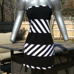 Black & White Strapless Dress Patricia Field 8